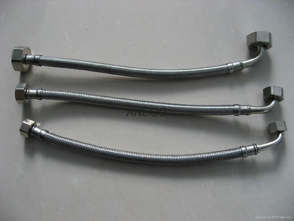 不锈钢丝编织软管洗衣机弯头管 2