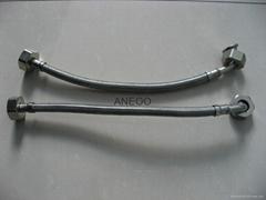 不锈钢丝编织软管 洗衣机管 弯头管