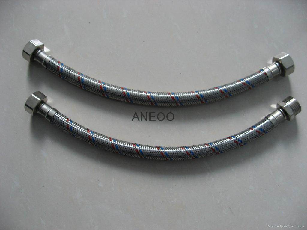 不锈钢红蓝丝编织软管