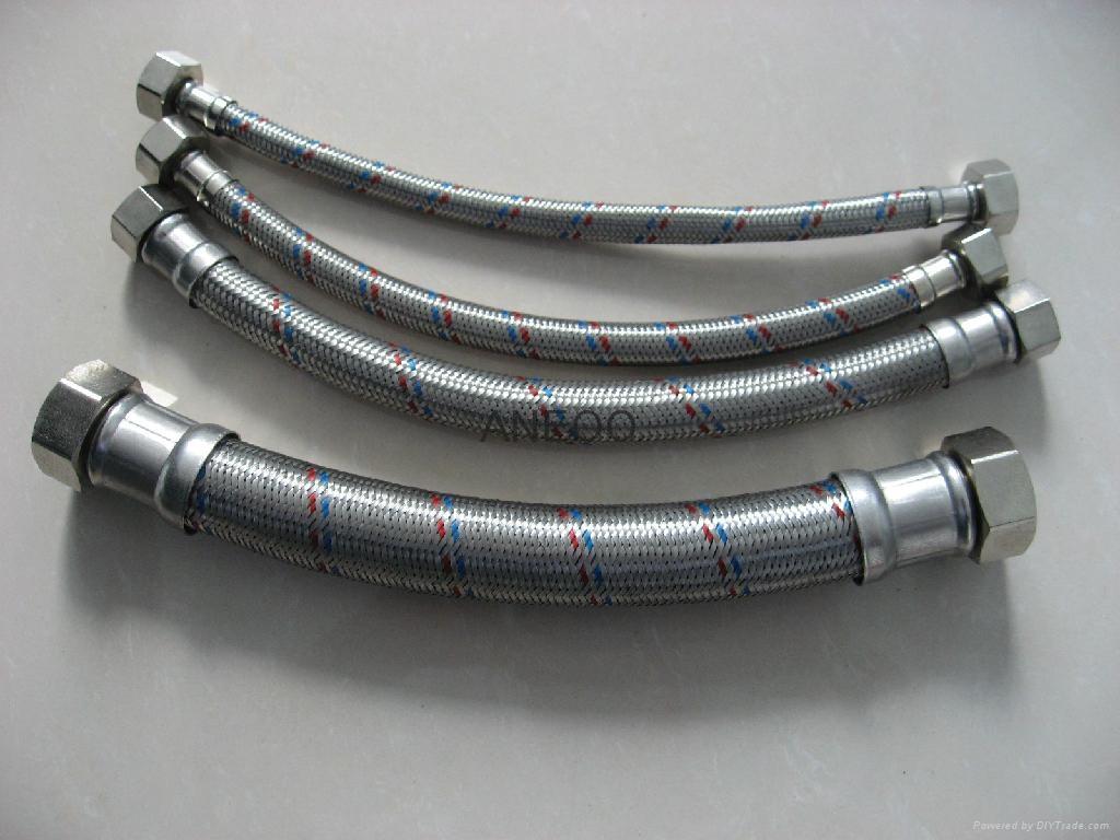 不鏽鋼紅藍絲編織軟管 4