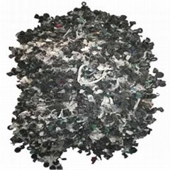 ABS電瓶殼破碎料選出的橡膠帽和輕質塑料膜雜質