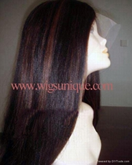 Remy hair full lace wigs