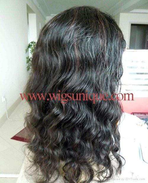 100% human hair full lace wigs  3