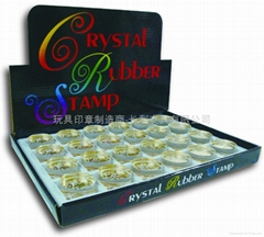 Crystal rubber stamp set