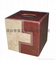 BOSO品牌仿真皮革纸巾皮盒