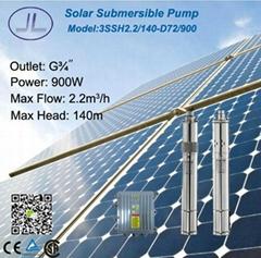 3寸太陽能直流鋁壓鑄不鏽鋼螺杆潛水泵900W/農業畜牧、灌溉等