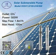 3寸太阳能光伏螺杆潜水泵500W