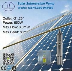 4寸太阳能直流螺杆潜水泵650W
