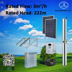 3.7kW 4inch Stainless Steel Pump, Borehole Well, Solar Pump System