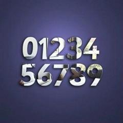 亞克力鏡子貼數字