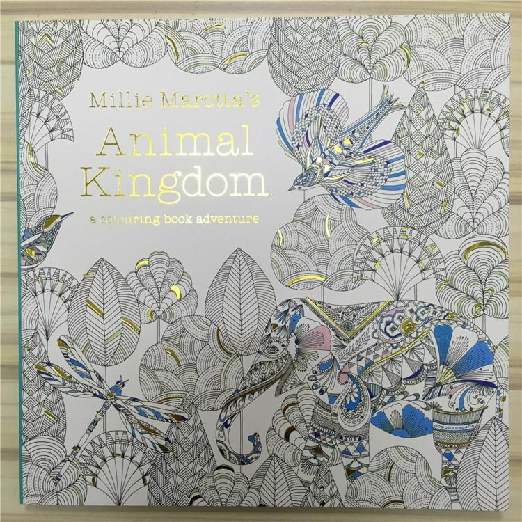 Coloring Book 25x25cm Animal Kingdom Enchanted Forest Secret Garden