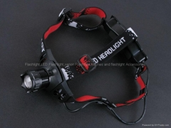 High Power Q8 Q3 LED 3 Modes Focus Rechargeable Headlamp