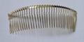 35teeth plain golden metal comb