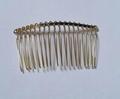 35teeth plain golden metal comb 2