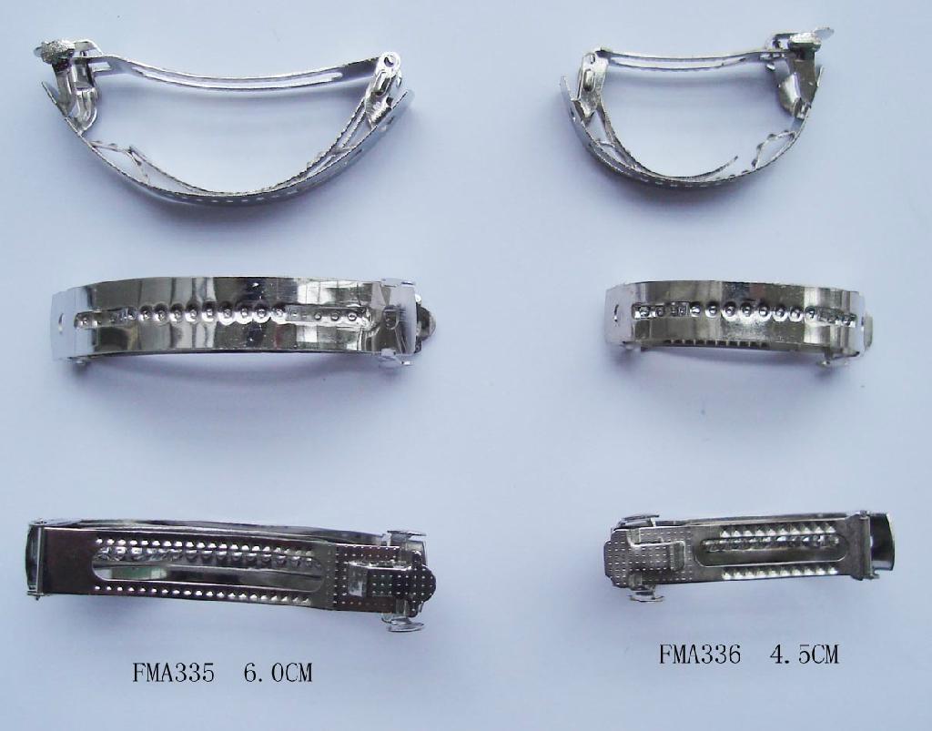 Various plain metal hair French barrettes 1