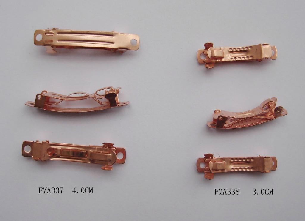 Various plain metal hair French barrettes 2