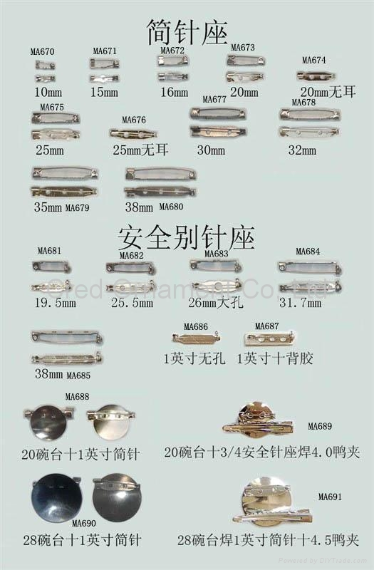Various sizes and styles of plain metal clips and safety pins suitable to DIY 1