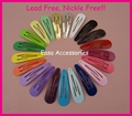 "5.0cm 2.0""Tear Drop Shape Round Head Plain Metal Snap Hair Clip  1"