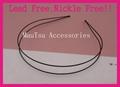 Plain Double wire metal hair Headbands hairbands for Handmade hair accessories 2