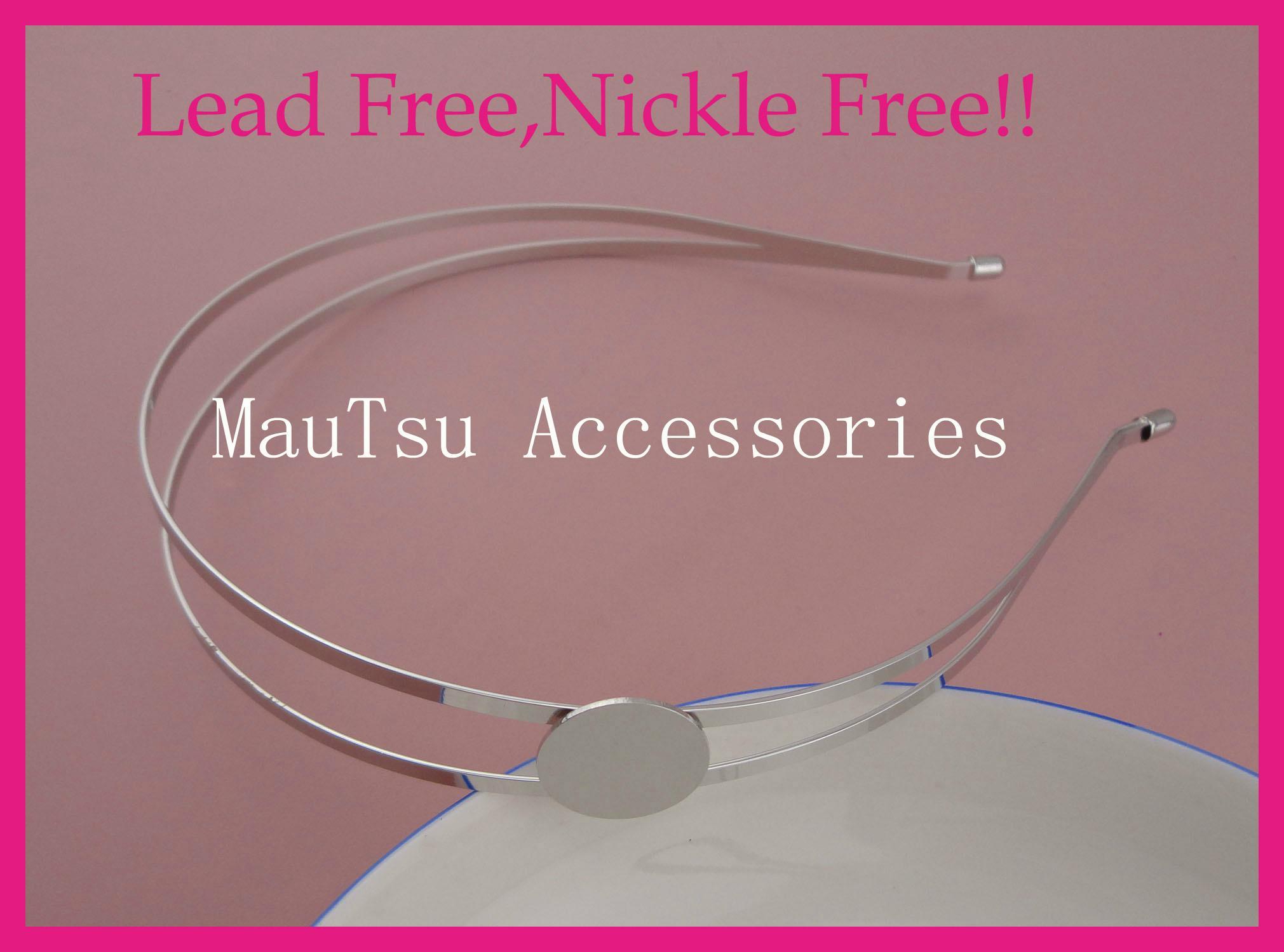 Plain Double wire metal hair Headbands hairbands for Handmade hair accessories 3