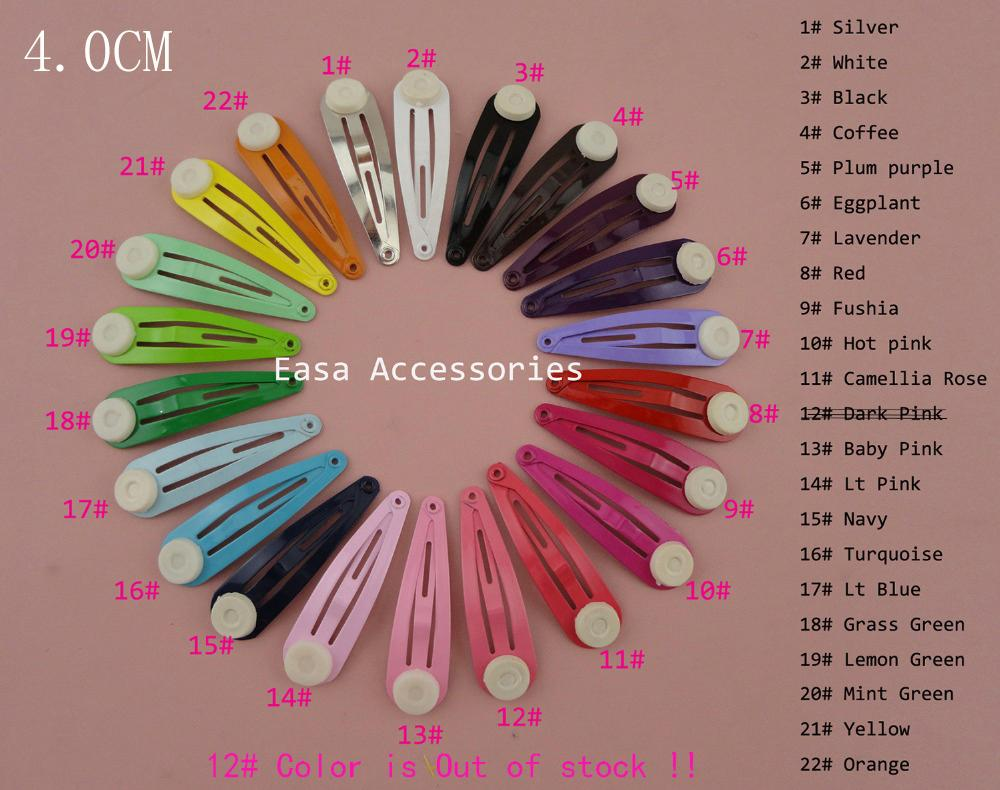 5.0cm 4.0cm colorful drop tear metal snap clips with pad  Handmade baby boutique 3