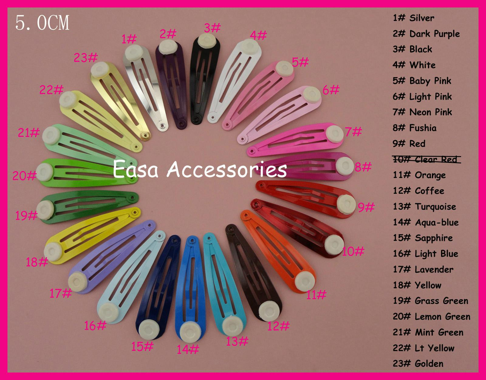 5.0cm 4.0cm colorful drop tear metal snap clips with pad  Handmade baby boutique 2