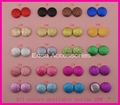 20mm Round Glitter Covered Button Beads with flat back Bling bling 2
