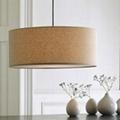 Fabric drop lamp A103