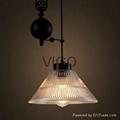 GLASS PENDANT LAMP  AMERICAN STYLE
