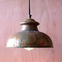 旧锈色铁艺吊灯