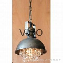 美式鐵藝水晶吊燈
