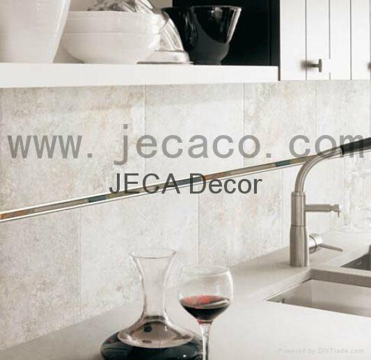 不锈钢配石材玻璃马赛克装饰条,瓷砖修边线 3