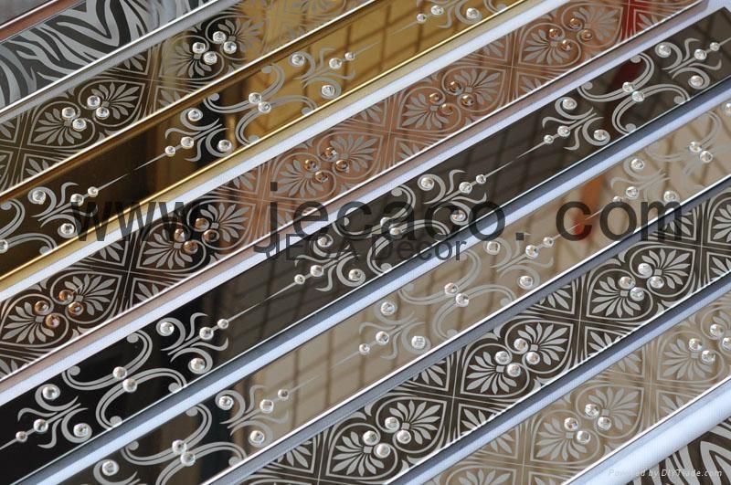 激光雕花不锈钢瓷砖装饰条 2