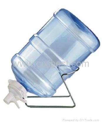 Metal 3-5 Gallon Water Jug Stand Rack With Aqua Spigot BR-03A 1