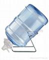 Metal Gallon Water Bottle Rack With Aqua