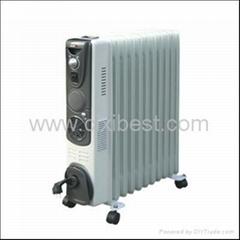 Fan Mounted Electric Oil Filled Radiator Heater BO-1014F