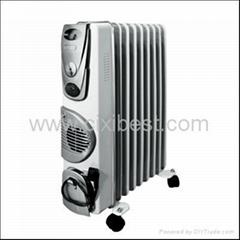 Fan Loading Electric Oil Filled Heater Radiator BO-1009F