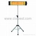 Freestanding Electric Quartz Tube Infrared Patio Heater BI-104