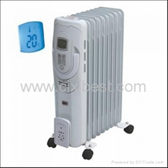 LCD Portable Electric Oil Filled Radiator Heater BO-1020