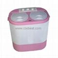 Portable Electric Twin Tub Mini Washing Machine XPB20-105