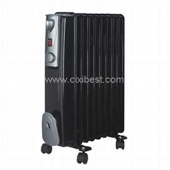 Black Room Electric Oil Filled Heater Radiator BO-1002B