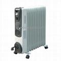 Fan Mounted Electric Oil Filled Radiator Heater BO-1007F
