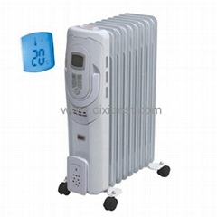 LCD Portable Electric Oil Filled Radiator Heater BO-1011