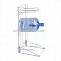 3 Bottle Floor Metal Gallon Bottle Stand