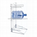 3 Bottle Floor Metal Gallon Bottle Stand Holder BR-14