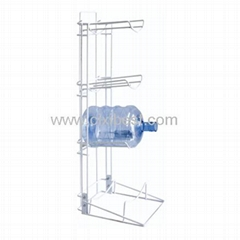 Floor Standing Metal Gallon Bottle Stand Holder BR-15