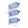 3 Bottle Steel Water Jug Storage Rack