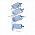 4 Bottle Steel Water Jug Storage Rack Holder BR-17