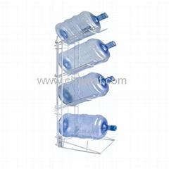 4 Bottle Steel Water Jug Storage Rack Holder BR-17