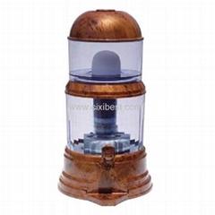 Brown Filtering Mineral Water Pot Water Purifier JEK-82